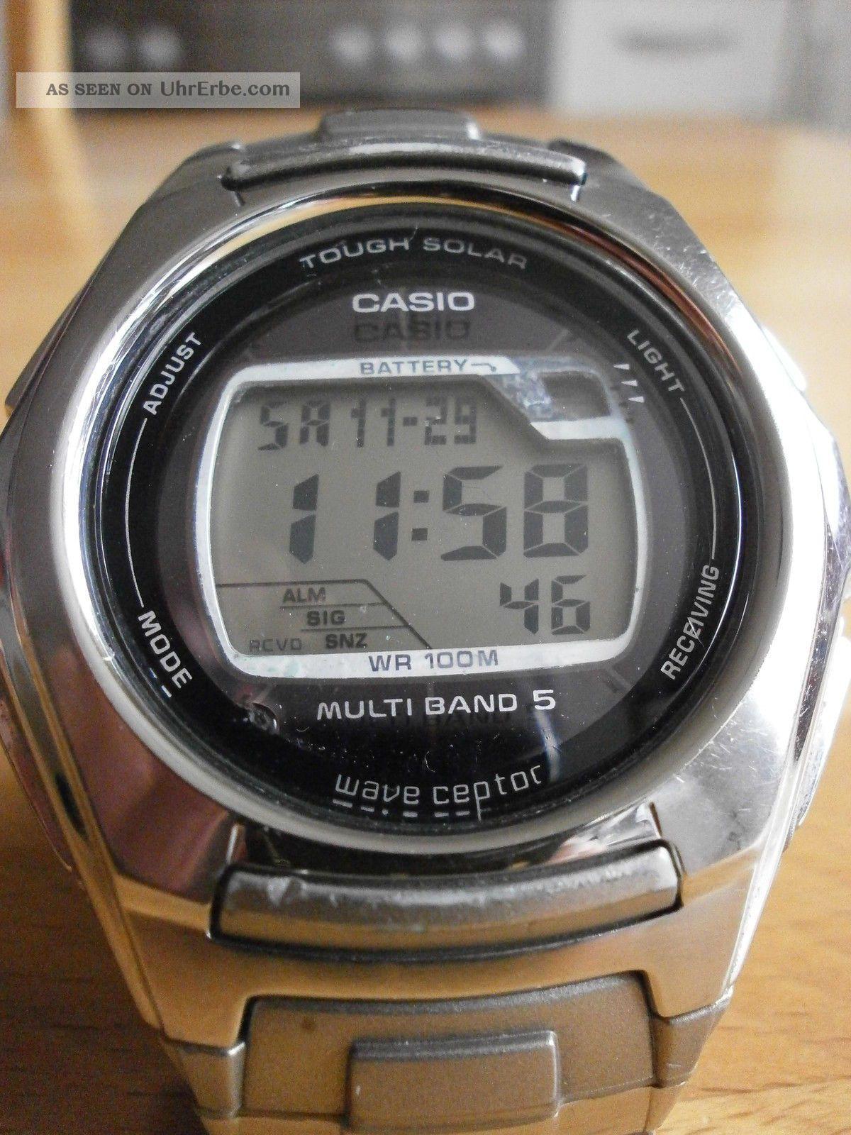 Casio Wv - M120 Wave Ceptor Tough Solar Armbanduhr Sportuhr Funkuhr Armbanduhren Bild