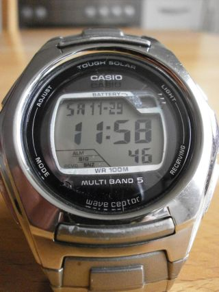Casio Wv - M120 Wave Ceptor Tough Solar Armbanduhr Sportuhr Funkuhr Bild