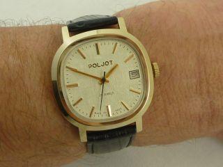 Schöne Poljot Russische Herren Armbanduhr Bild