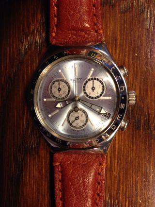 Swatch Irony Armbanduhr Mit Lederarmband Bild