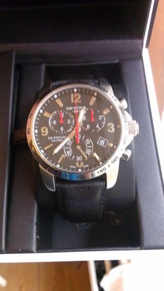 Luxus Herren Uhr Certina Quarz Ds Podium Big C001.  617.  16.  057.  00 Bild
