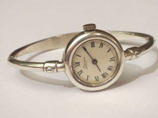 Weihnachten Quinn 925 Sterlingsilber Design Spangenuhr Handaufzug Np über 500,  - Bild