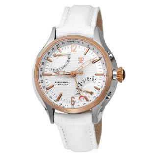 Tx Technoluxury Perpetual Calendar Weiß Armband Uhr T3c255 - Bild