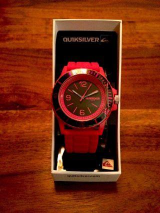 Quiksilver Slam Watch Armbanduhr Rot Bild
