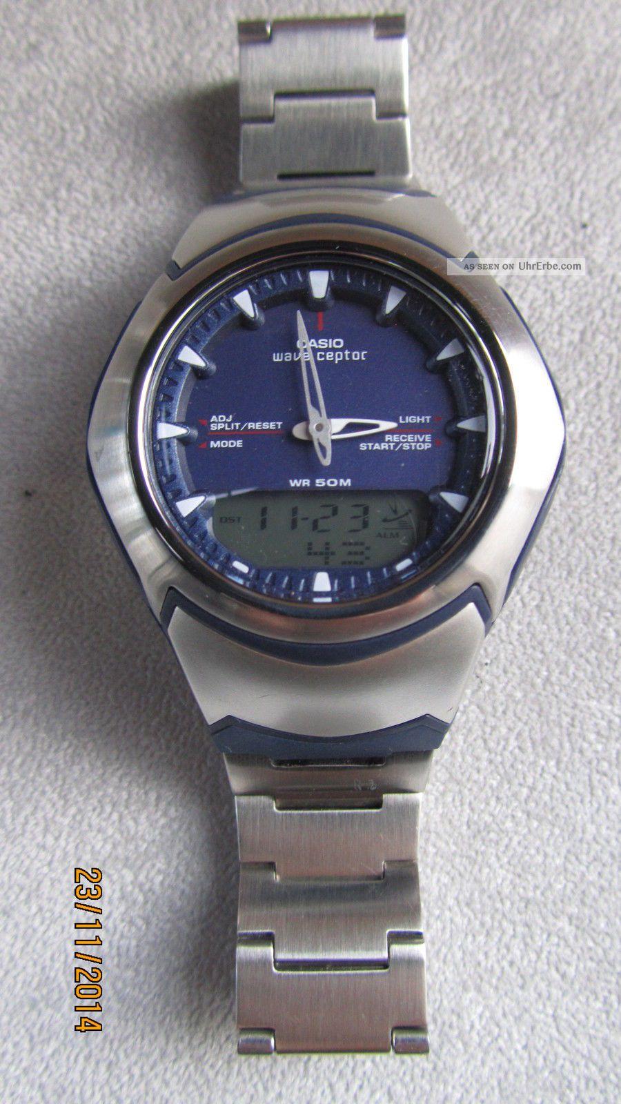 Casio Wave Ceptor Iluminator World Time,  Funk,  U.  S.  W.  Wie Armbanduhren Bild