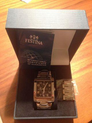Sehr Moderne Festina Sport F16234/f Armbanduhr Für Herren Edelstahl Bild