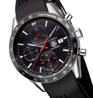 Tag Heuer Carrera Herrenuhr Automatik Chronograph Cv2014.  Ft6014 Men ' S Watch Bild