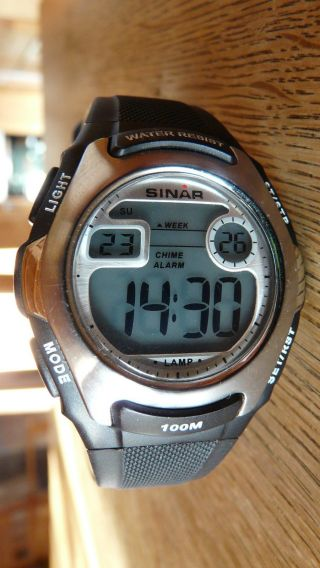Armbanduhr Für Jungen,  Sinar Xe - 50 - 1 Unisex Kautschuk In Schwarz Bild