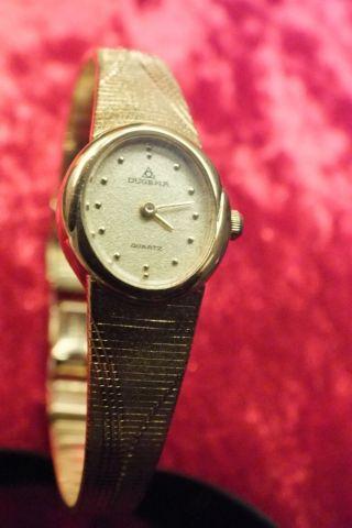Dugena Sehr Chice Elegante Damenuhr Quartz Uhr Aus Erbschaft Gold - Edelstahl Bild