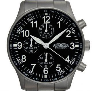 Astroavia Chronograph N 86 S Fliegeruhr Herrenuhr Uhr Mit Uhrenbox Und Werkzeug Bild
