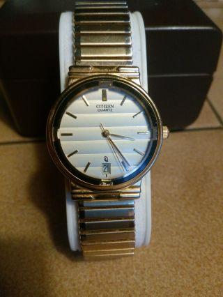 Armbanduhr Für Herren Marke Citizen Quartz 90er Jahre Aus Einem Nachlass Bild