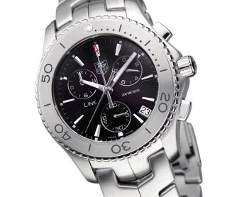 Tag Heuer Link Herrenuhr Chronograph Edelstahl Cj1110.  Ba0576 Ovp Men ' S Watch Bild