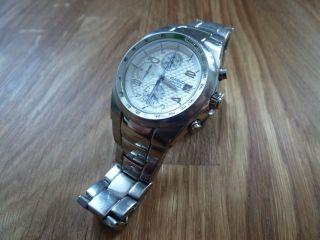 Casio Ev - 501 Edifice Armbanduhr Analog Silber / Weisses Zifferblatt Bild