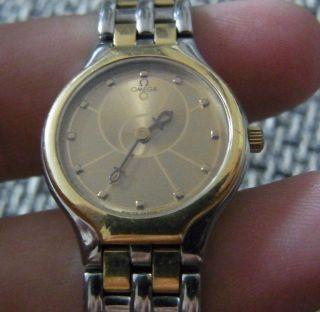 Damen Luxusuhr Omega De Ville Ying Yang V.  1998 Stahl/750gold Perfekt Bild