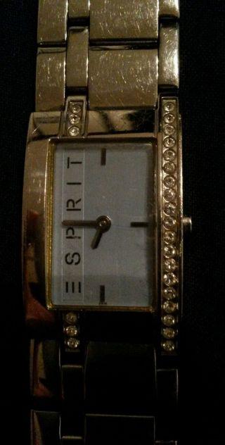Esprit Uhr,  Ziffernblatt Hellblau,  Glitzersteine,  Läuft Perfekt Bild