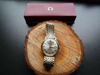 Omega Seamaster De Ville,  Automatik,  Uhr,  Mit 585 Gelb Gold Armband,  Datumsanzeige Bild