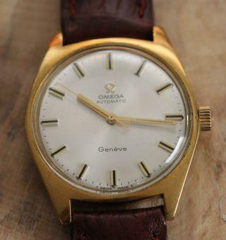 Omega Geneve Armbanduhr Automatik Uhrenwerk Bild