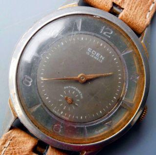 Seltene Alte Armbanduhr Eden Swiss Sammler Mechanisch Handaufzug Bild