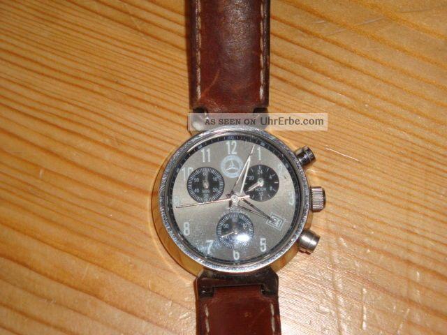 Armbanduhr Mercedes Benz.  Chronograph.  10 Atm.  Water - Resistant.  All Stainless. Armbanduhren Bild