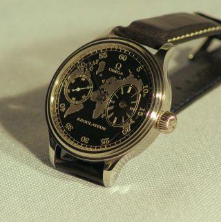 Omaga Regulateur Armbanduhr 48 Mm Glasboden Mariage Von 1929 Bild