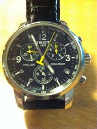Tissot 1853 Herrenchronograph Prc 200 Armbanduhr Lederarmband Herrrenuhr Bild