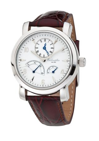 EichmÜller 7 - Zeiger Automatik Uhr Herrenuhr Dualtime Edelstahl 2 Zeitzonen Bild