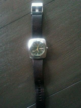 Diesel Herren Armband Uhr Braun Leder Bild