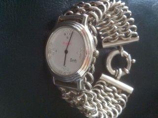 Damenuhr 925 Silber Luxus Sportlich Elegant Bild