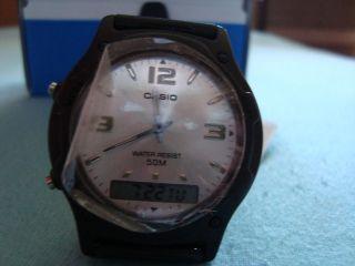 Casio Armbanduhr,  Nr.  3321,  Schwarz,  50m Wasserdicht Bild