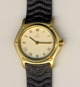 Ebel Sport Classic 18k / 750 Gelbgold Damen Armbanduhr Ca.  25mm Bild