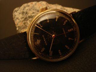 Wunderschöne Schweizer Uhr Marvin Armbanduhr Aus Massiv 14k 585 Gold Bild