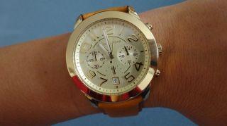 Org Michael Kors Damen Uhr Mk 2251 Gold Leder Armband Bild