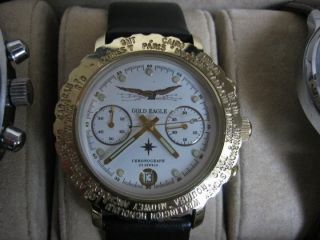 Poljot 3133 Gold Eagle Fliegerchronograph Handaufzug Chronograph Mechanisch Uhr Bild