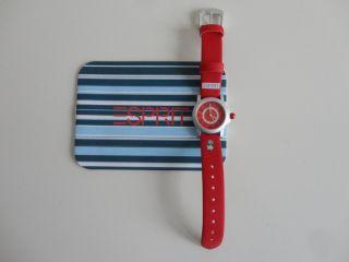 Armbanduhr Esprit Kind Rot Mädchen Oder Junge Mit Ovp Und Beilage Bild
