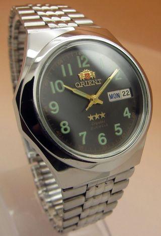 Orient Crystal 21 Jewels Mechanische Automatik Uhr Datum & Taganzeige Bild