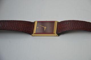 Damenuhr In Cartier - Rot Von Citizen,  Quadratisch Mit Band Bild