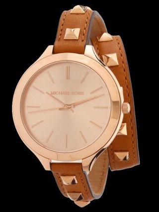 Luxusuhren Michael Kors Damen Uhr Rose Gold Damenuhr Runway Mk2299 Bild