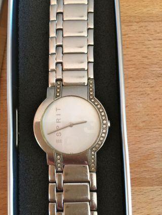 Stylische Uhr Von Esprit Aus Edelstahl/ Silber,  In Ovp Bild