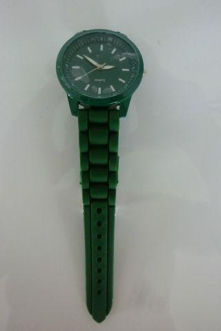 Lk Silikon Armbanduhr Uhr Grün Silikonband Dornschließe Top Bild