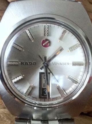 Rado Voyager Vintage Automatic Uhr In Edelstahl – Day Date Bild