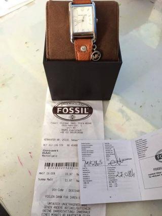 Michael Kors Uhr Lederarmband Braun Edelstahl Gehäuse Mk2165 Mit Rechnung Bild