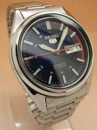 Seiko 5 7s26 - 0520 Racer Snk375 Glasboden Automatik Uhr 21 Jewels Datum - Taganzeig Bild