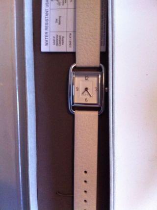 Esprit Creme Farbene Armbanduhr Leder Damen Lp 79,  90 Mit Etikett Bild