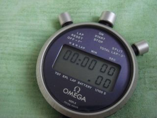 Vintage Omega Lcd Watch Stopwatch Chronograph Bild