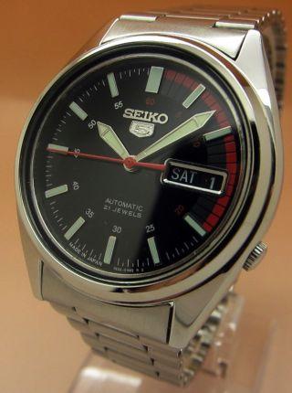Seiko 5 7s26 - 0480 Racer Snk375 Glasboden Automatik Uhr 21 Jewels Datum - Taganzeig Bild