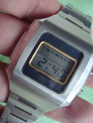 Vintage Tissot Data Recorder Lcd Watch Bild