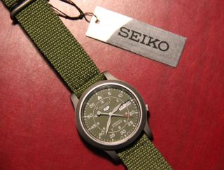 Seiko 5 Military Automatic Armbanduhr 21 Jewels Bild