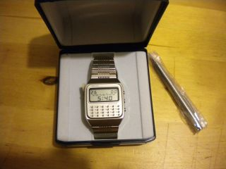 Seiko Cal.  C153,  Ref.  Fh001,  Uhr Mit Calculator,  Nos 1978,  Mit Stift, Bild