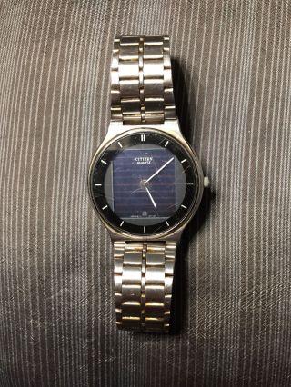 Citizen Quartz Solar Armbanduhr / Uhr Mit Datumsanzeige Top Bild
