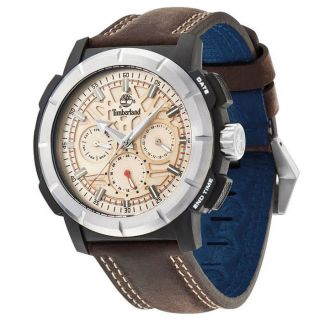 Timberland Herren - Armbanduhr Xl Analog Quarz Leder Tbl.  13325jpbs/14 Bild